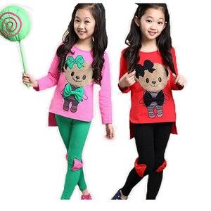 Image 4 - ملابس أطفال طقم رياضي للخريف ربيعي بأكمام طويلة + سروال مريح ملابس بناتي للأطفال من سن 3 إلى 10 سنوات ملابس للمراهقات