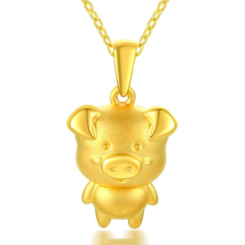Золотая подвеска 999 Золото 12 Зодиак Подвеска со свиньей Золотой Свинкой Подвеска для детей подарок для мужчин и женщин 1,8 2,0 г Мода Настоящее