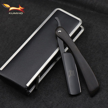 KUMIHO Barber razor with wood foldable handle straight face razor blade straight edge classical shaving razor free shipping