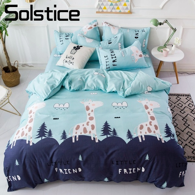 solstice home textile giraffe mountain blue cartoon bedding set boy rh aliexpress com