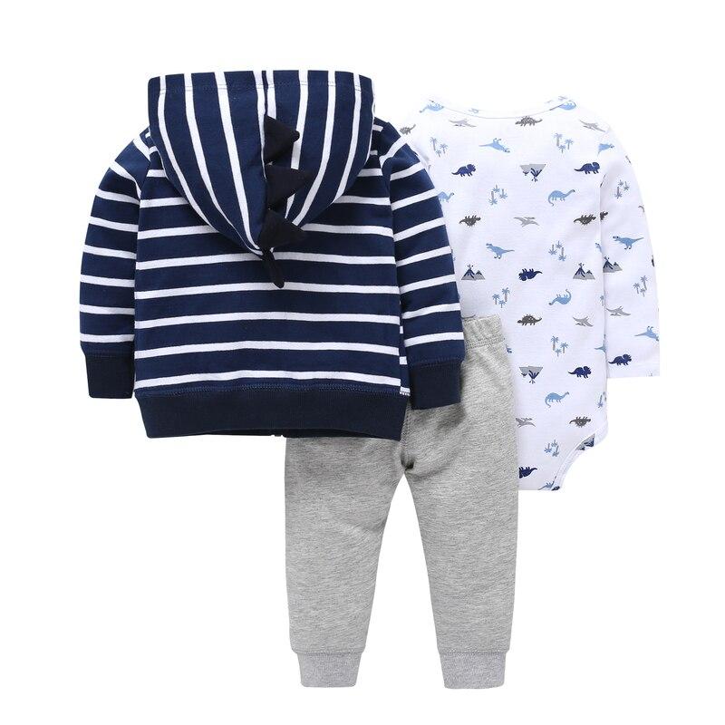 Bebek Baby Girl Roupa Infantil 2018 Hot Boys, Casual Stripes, Cute - Odzież dla niemowląt - Zdjęcie 2