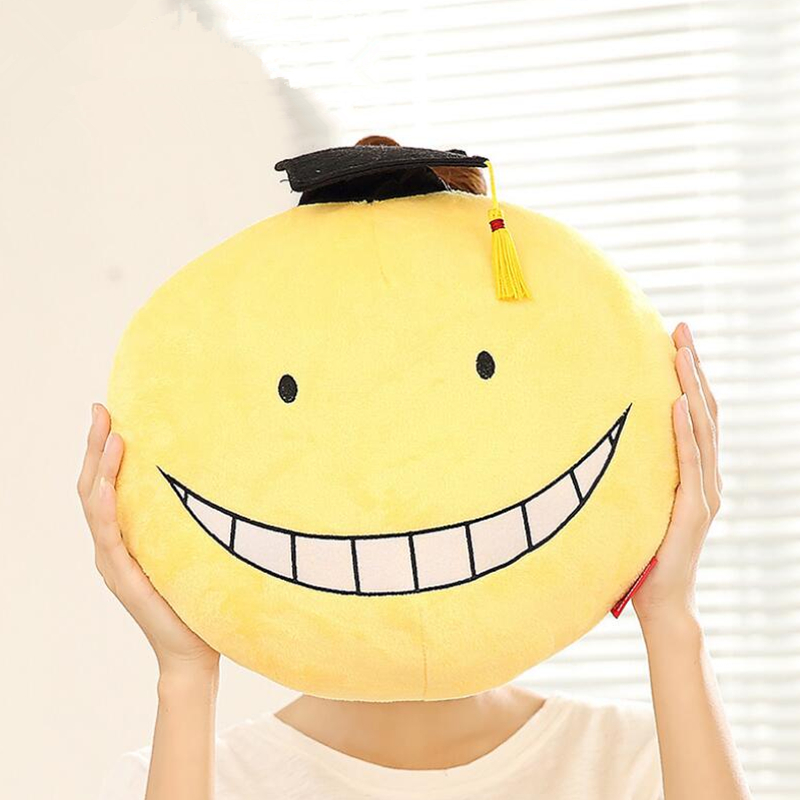 2017 Anime Plush Toy 2Types Assassination Classroom Koro Sensei Hugging Body Back Pillow Cute Cartoon Pillows Dolls mikado sensei mark countdown 0 2