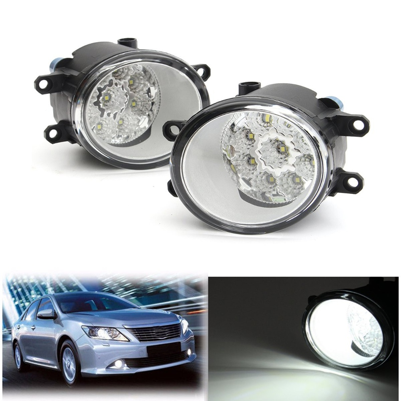 1 Pair Left And Right 9 LED Front Driving Fog Light Lamp For Toyota/Corolla/Camry/Yaris/Vios/RAV4 Daytime Running Light 2pcs fog light lamp left right set for toyota camry corolla yaris rav4 lexus gs350 gs450h lx570 hs250h is f lx570 rx350 rx450h