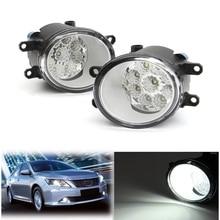 2 шт. левый + правый 9 светодиодный автомобиля спереди для вождения Туман Дневной свет лампы дневного света для Toyota Corolla/ /Camry/Yaris/Vios/RAV4 для Lexus