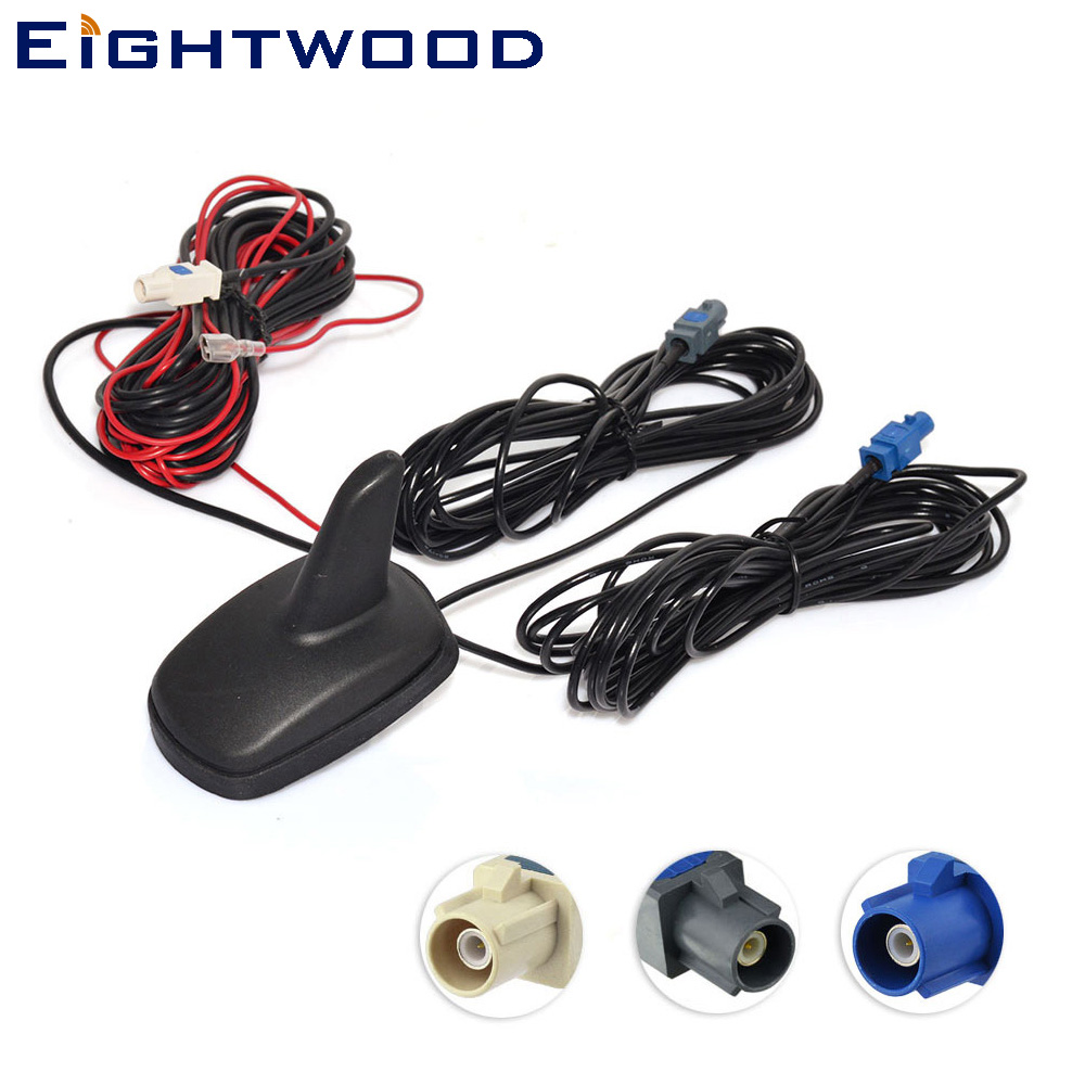 Eightwood DAB Antenna DAB+GPS FM/AM Car Digital Radio Amplified Aerial Roof Mount Shark Fin Antenna Roof mount Antenna-in GPS Receiver & Antenna from Automobiles & Motorcycles    1