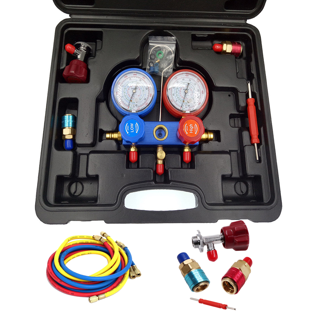 1 Set Manifold Gauge Set Charging for R404a R22 R134a Dual Manifold Pressure Gauge Air Conditioner Refrigeration Manifold Gauge цены