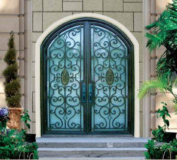 iron front doors. Custom Design Forged Wrought Iron Front Doors Entry H-wid10