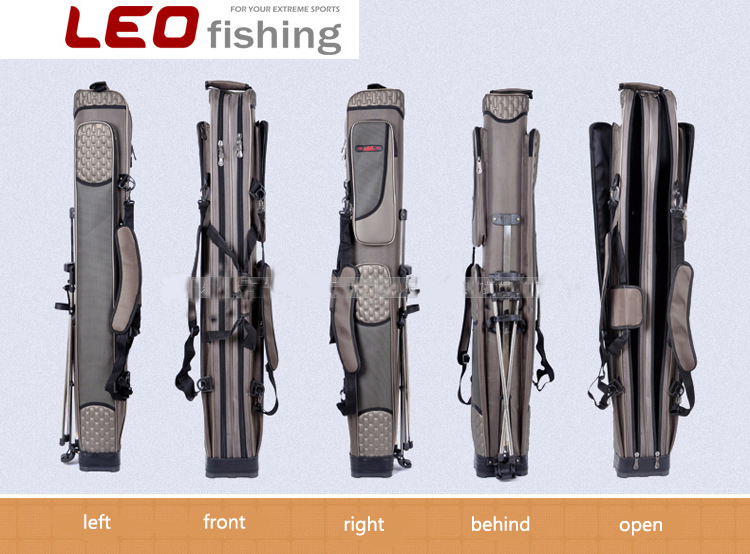 2017 Hot Sale Leo Fishing Bag 126cm Waterproof With Stainless Steel Holder 2 Layers 3 Layers Portable Multi Purpose Tackle metal wardrobe 3 layers black power coating hot sale