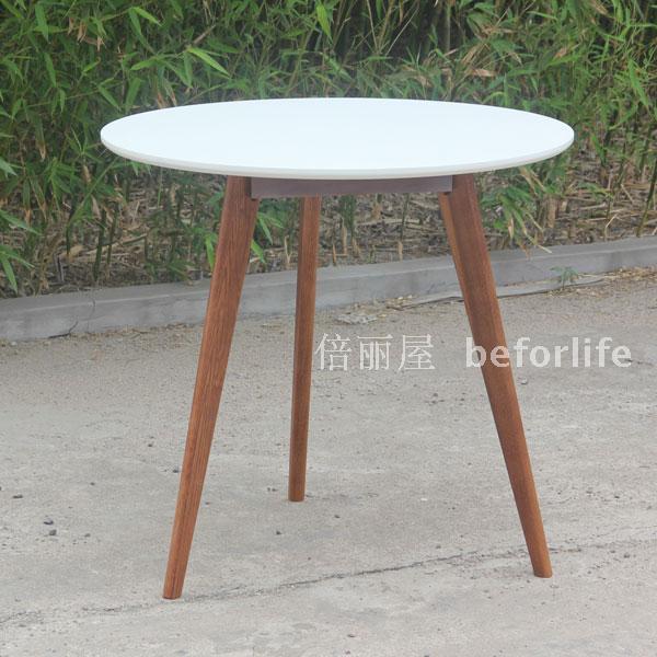 Ikea Style Solid Oak Round Table Leg Mahjong Coffee A Few Dessert Cafe