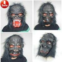 Scimpanzé horror halloween maschere in lattice adulti cosplay spaventoso animale maschera parrucca di travestimento giochi temi maschera stile casuale