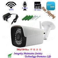 MIC Audio Mini Reset SD Card IP Camera WIFI 1080P 960P 720P IR CCTV Camera RTSP Metal Outdoor Bullet ONVIF P2P security Alarm