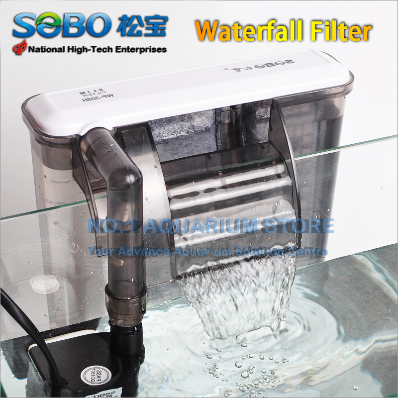 Us 12 99 Sobo Aquarium Hang On Back Waterfall Filter Fish Tank Marine External Filtration Slim Design Authorized Dealer In Filters Accessories