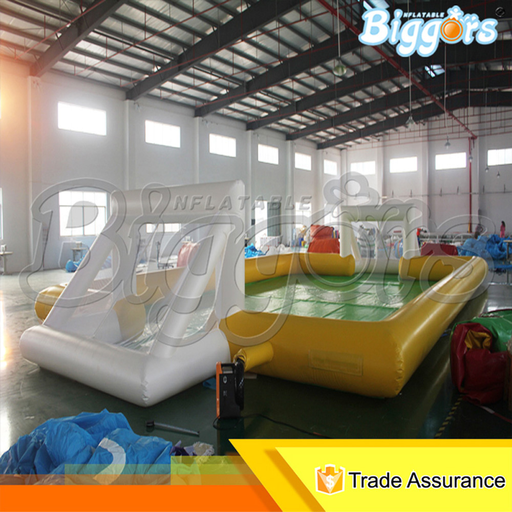 Funny toys inflatable football pitch pvc commercial use from China funny summer inflatable water games inflatable bounce water slide with stairs and blowers
