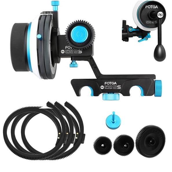 FOTGA DP500IIS QR A B Hard Stop Follow Focus 3 Gear 3 Belt 1 Crank Handle