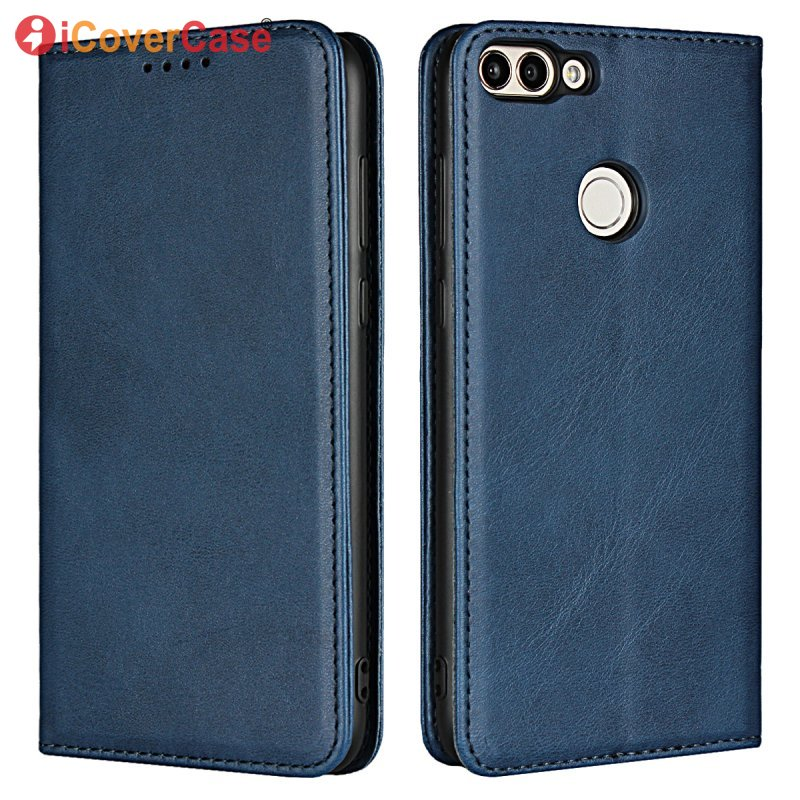 Leather Case For Huawei P Smart Magnetic Cover Wallet Flip S
