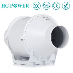 3 75mm Inline Duct Fan Hydroponic Bathroom Extractor Fans Ventilation Blower Exhaust Fan for Kitchen Toilet Greenhouse Booster