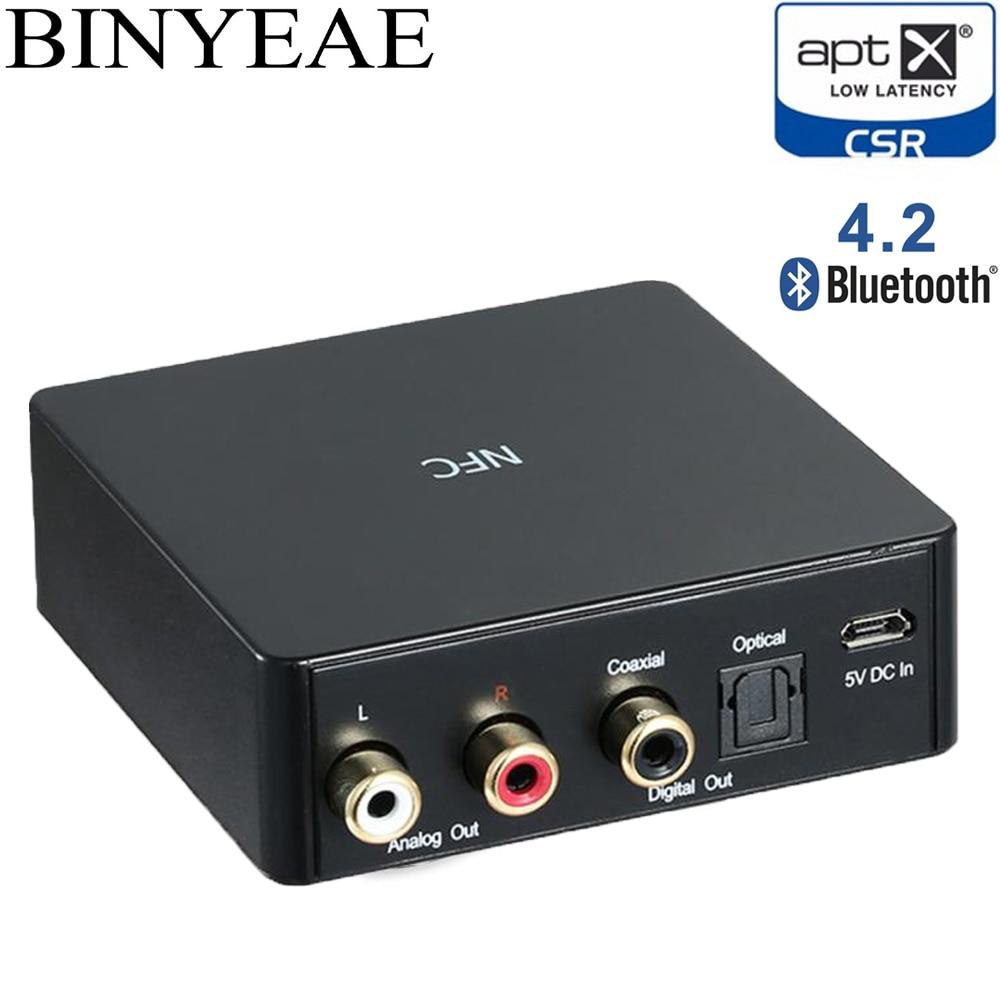 Hi-Fi Bluetooth 4.2 Aptx faible latence NFC optique SPDIF Coaxial RCA Audio récepteur de musique adaptateur de haut-parleur sans fil TI PCM5102A DAC