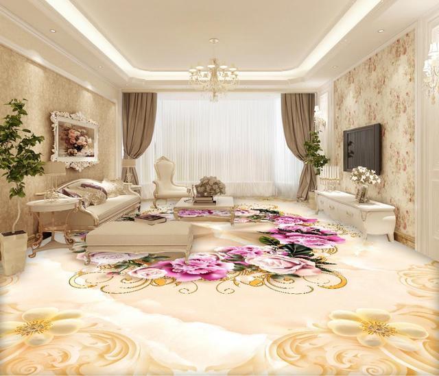 US $25.2 55% di SCONTO|Sollievo marmo pavimento 3d pittura wallpaper per  pareti 3d cucina pavimento di mattoni carta da parati carta da parati in ...