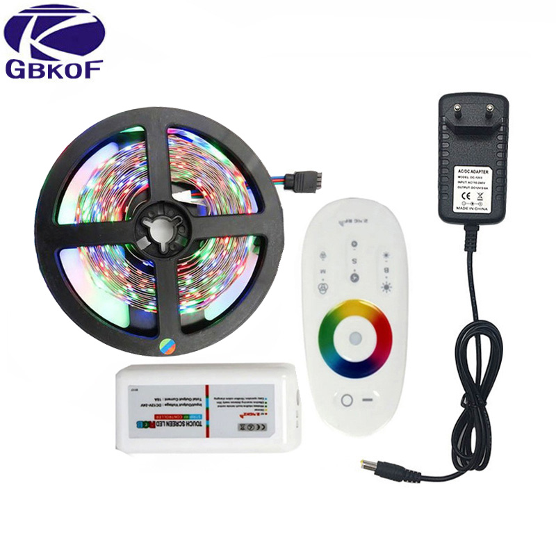20M 15M 10M 5M RGB LED Strip Lights 3528 non waterproof SMD Flexible RGB Ribbon Tape Set +MiLight Controller+DC 12V Power Supply