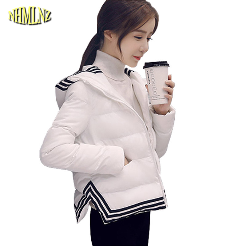 New Autumn and Winter Fashion Long sleeve Short section Women Cotton coat Striped Warm Winter zipper women jackets S-XXL WK115 2016 autumn winter women s casual fashion not as long as before and after long section side seam zipper bags seven snowflakes