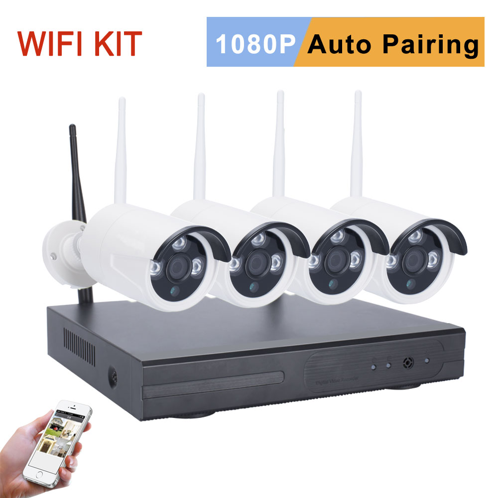 mingkey 2 0mp wireless cctv kit 1080p wifi security camera system 3000tvl home surveillance nvr. Black Bedroom Furniture Sets. Home Design Ideas