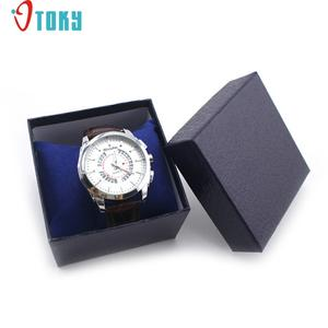 OTOKY Unique 1 PC Watch Boxes Paper Square Black Jewelry