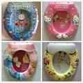 Asiento Del Inodoro inodoro de dibujos animados para Niños de Colores Cómodo Material Auxiliar Inodoro Pad PP + Esponja Cubierta Suave Asiento Del Inodoro