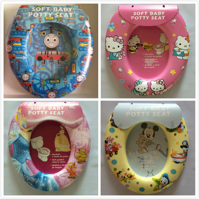 Cartoon Colorful Children\'s Toilet Seat Toilet Comfortable Auxiliary ...