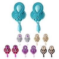KPacTa mode en cuir dames boucles d'oreilles rond Long gland bijoux rétro à la main grand pendentif boucles d'oreilles parti National vent cadeau