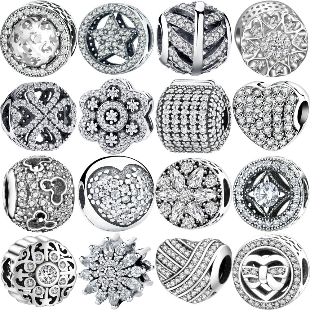 Designer 925 Sterling Silver Bracelet Floating Charms Beads Fit Pandora Original Bracelets for Women Necklace Womens Jewelry