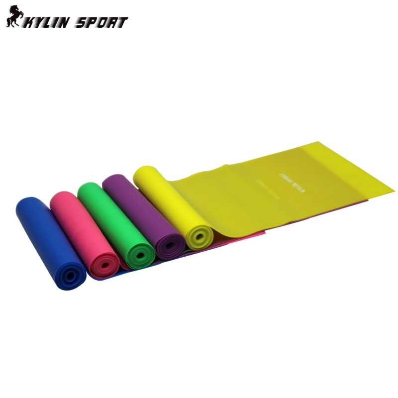 1.5m Yoga Pilates Stretch Resistance Band Exercise Fitness Band Training Purple Blue Green Yellow Pink free shipping