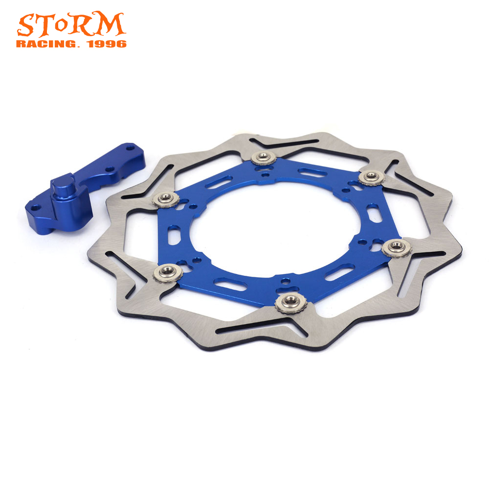 270MM Wavy Front Floating Brake Discs and Bracket For YAMAHA YZ WR 125 250 WRF250 400 426 450 YZF YZ250F 400F 450F Motocross 240mm stainless steel motorbike rear brake disc rotor motorcycle brake disk for yamaha yz 125 yz 250 wr yz 400 f wr 426 yz 426