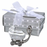 Ywbeyond Crystal Baptism Gifts Crystal Baby Carriage Christening Baby Shower Souvenirs Favors