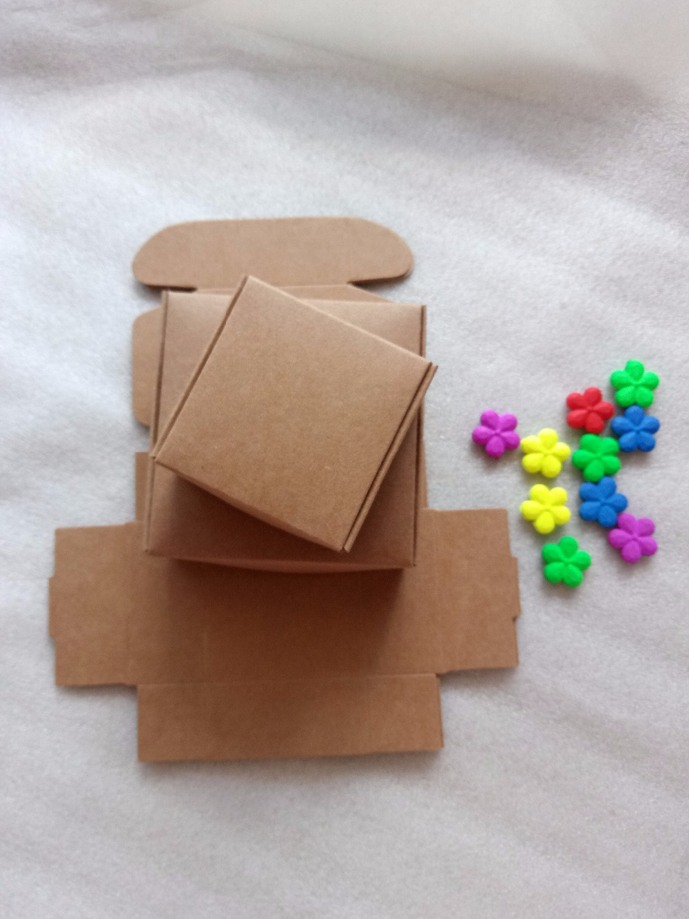 20pcs DIY Kraft Paper Box Gift Boxes For Wedding Favors Birthday Candy Cookies Christmas Jewelry package boxes Party Supplies in Gift Bags Wrapping Supplies from Home Garden