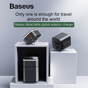Image 2 - Baseus 18W Quick Charge 3.0 USB Charger Travel Adapter with PD3.0 Fast Phone Charger Global Conversion Charger Worldwide Adapter