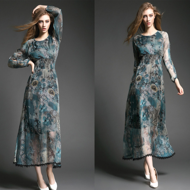 f62864ac3c casual dress plus size women clothing summer office long party dress  vestidos robe femme fashion ropa mujer maxi dress T2908