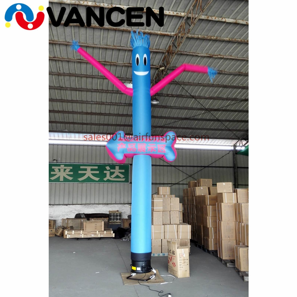 6mH Advertising air dancer customized logo inflatable tube man single tube sky dancers inflatable dancing man with arrow inflatable sky dancing tube man ghost chef outdoor waving air dancing man for advertising celebration without fan blower
