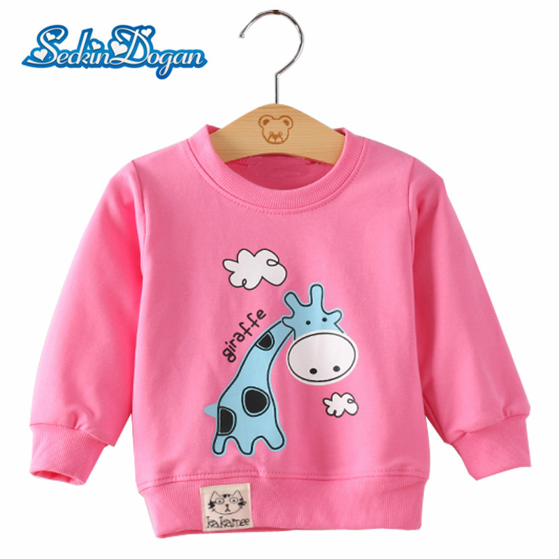 2018 Spring Autumn Baby Boys Sweatshirt Cute Cartoon Pattern Clothes Long Sleeve Sweatshirts Baby Girls Boys Casual Clothing