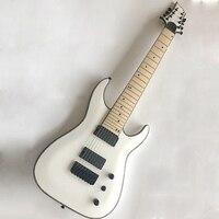 Белый 8 Строка гитары с целлулоид Связывание