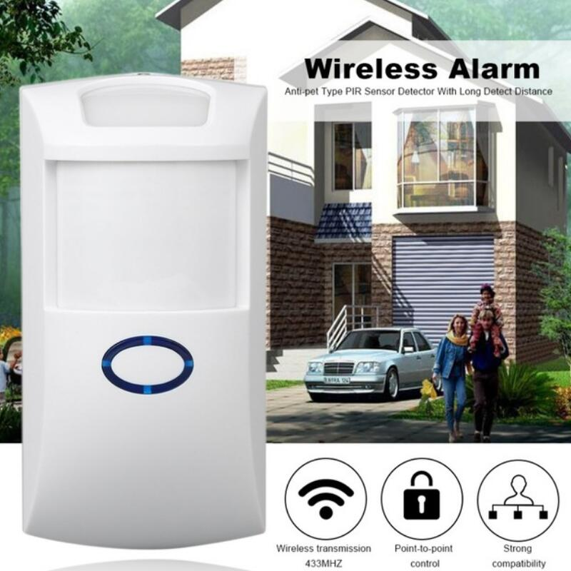 Wireless PIR Sensor Motion Detector 433Mhz Alarm Sensors For Wireless GSM/PSTN Auto Dial Home Security Alarm System mc 448rdmt 868mhz wireless curtain pir sensor window detector for wireless gsm pstn house security alarm system free shipping