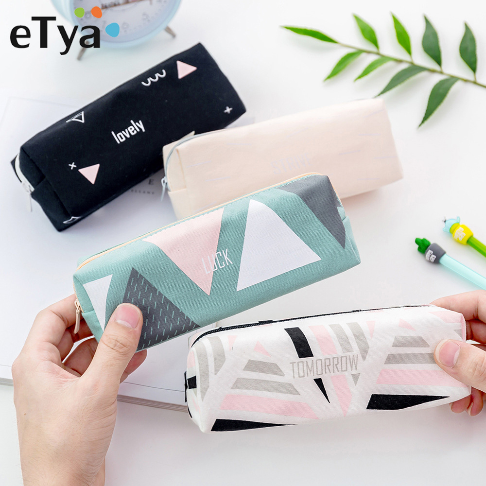 ETya Women Travel Cosmetic Bag Fashion Makeup Brush Bag Zipper Pencil Case Make Up Organizer Storage Pouch Toiletry Beauty Box