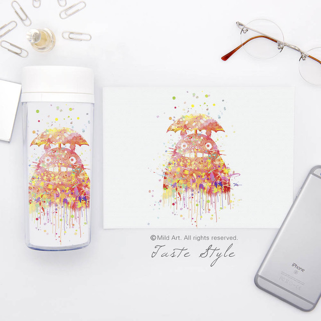 Studio Ghibli My Neighbor Totoro – 300ml (BPA Free)Plastic Insulated Water Bottle – Style 2