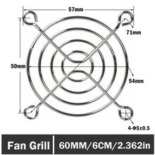 2 Pieces PC DC Fan 60mm 6cm Silver Tone CPU Grill Protector Metal Finger Guard freight free 250pcs set new metal steel 60mm 6cm fan protector finger guard grill net