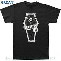 GILDAN Top Quality Cotton Casual Men T Shirts Men Free Shipping Alkaline Trio Men S Bone