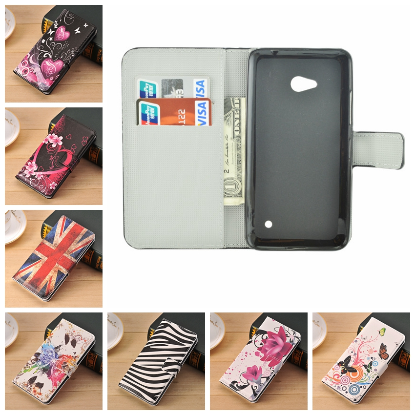 Cute Flower Flip Leather Wallet Phone Cases For Microsoft
