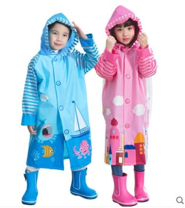 Fashion burberry_ kids Raincoat Yellow Pink Cartoon Boys Rain Jacket Baby Rainwear Children Rain Coat Waterproof Girls Clothes Принцесса Жасмин
