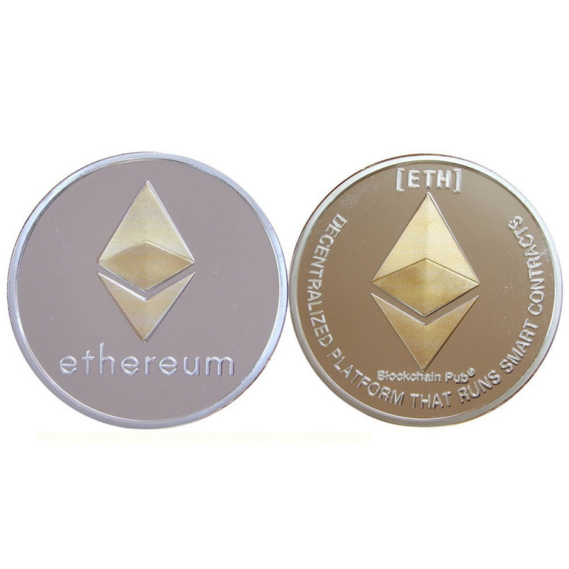 Coin Replica Collection Art Cld Imitation Metal Physical Gift Gilded ETH Ether Coins Car Accessories