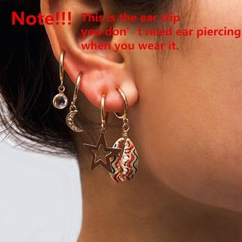 Ingemark Korean Natural Shell Drop Earrings Sweet Lvory Color Bohemian Stars Summer Conch Clip on Earring 1