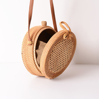 Holiday Summer Vintage Handmade Rattan Bags Straw Woven Ladies Stars Hollow Bow Shoulder Bag Weaving Beach Handbags B429 5