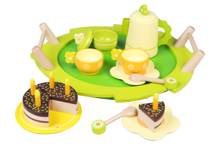 Free Shipping!Baby Toys Cute Tea Set  With Cake Toys Child Play house Furniture Toys Educational Toys gift free shipping children tea set wooden child toy play house kitchen toys pretend tea set play
